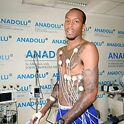 Turkish Basketball team Anadolu Efes's Tarence Kinsey during their medical control in Istanbul Turkey on Saturday 20 August 2011. Photo by TURKPIX