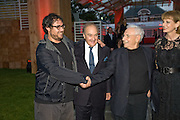 SAM GEHRY; LORD PALUMBO; FRANK GEHRY, The Summer Party. Hosted by the Serpentine Gallery and CCC Moscow. Serpentine Gallery Pavilion designed by Frank Gehry. Kensington Gdns. London. 9 September 2008.  *** Local Caption *** -DO NOT ARCHIVE-© Copyright Photograph by Dafydd Jones. 248 Clapham Rd. London SW9 0PZ. Tel 0207 820 0771. www.dafjones.com.