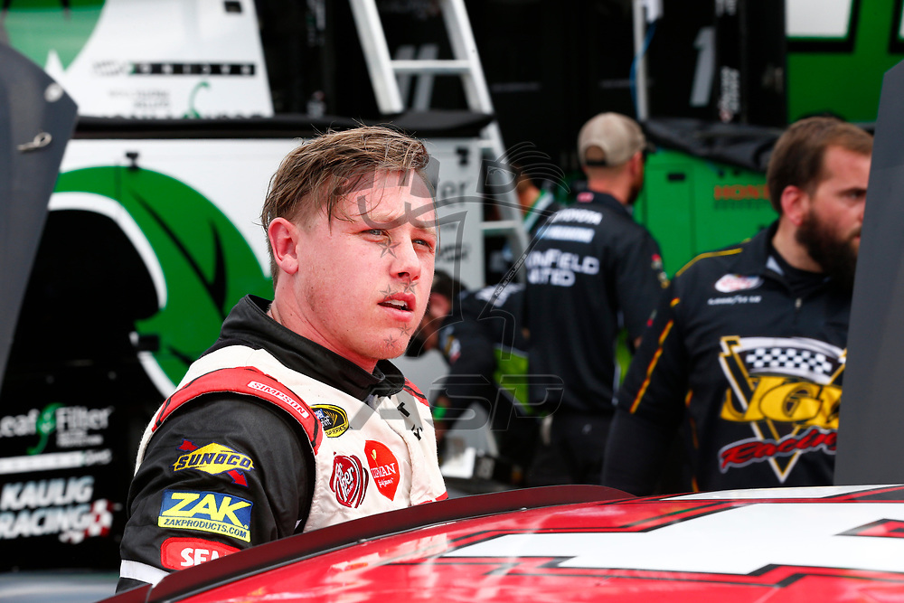 April 28, 2017 - Richmond, Virginia, USA: Jeb Burton (24) hangs out in the garage during practice for the ToyotaCare 250 at Richmond International Speedway in Richmond, Virginia.