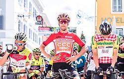 10.07.2019, Fuscher Törl, AUT, Ö-Tour, Österreich Radrundfahrt, 4. Etappe, von Radstadt nach Fuscher Törl (103,5 km), im Bild v.l.: Emils Liepins (Wallonie Bruxelles, FRA), Jonas Koch (CCC Team, GER), Georg Zimmermann (Tirol KTM Cycling Team, GER) // during 4th stage from Radstadt to Fuscher Törl (103,5 km) of the 2019 Tour of Austria. Fuscher Törl, Austria on 2019/07/10. EXPA Pictures © 2019, PhotoCredit: EXPA/ JFK