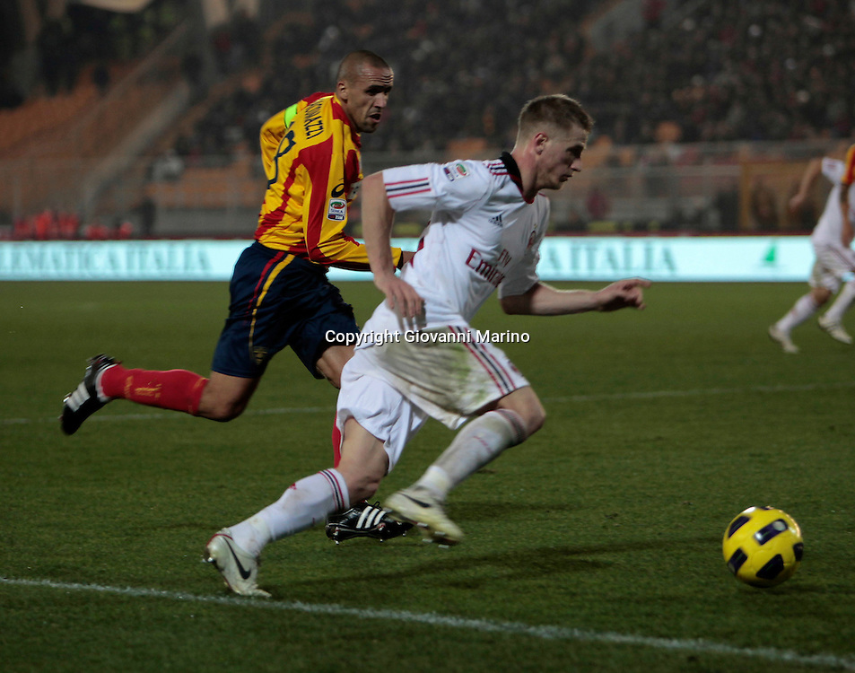 Lecce (LE), 16-01-2011 ITALY - Italian Soccer Championship Day 20 -  Lecce - Milan..Pictured: Abate (M)..Photo by Giovanni Marino/OTNPhotos . Obligatory Credit