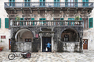 17th century Pima Palace in the UNESCO-listed old town of Kotor, on the Boka Kotorska (Kotor Inlet), Montenegro