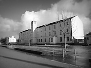 Clocktower Building, Ebrington Barracks, City, 1841, Derry, City, black and white, black and white photography, black and white prints, photography print, Irish gifts, Irish people, historical photos, Irish society, Irish history, Irish culture, images of Ireland, Ireland, Eire, film photography, image library, picture library, Republic of Ireland, Irish pictures, Irish images, sepia, architecture,