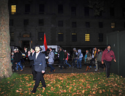 The annual 'Million Mask March' demonstration took place around around Central London, protesters walked through St James Park towards Buckingham Palace. London, 05 November 2018.