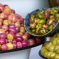 Africa, Morocco, Marrakech. Olives of Marrakech Souks.