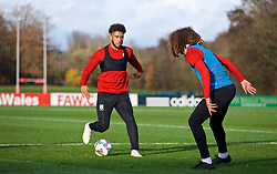 CARDIFF, WALES - Monday, November 12, 2018: Wales' Tyler Roberts during a training session at the Vale Resort ahead of the UEFA Nations League Group Stage League B Group 4 match between Wales and Denmark. (Pic by David Rawcliffe/Propaganda)