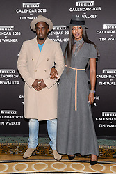 """(L-R) Sean """"Diddy"""" Combs and model Naomi Campbell pose during the photocell for The Pirelli 2018 Calendar by Tim Walker Launch Press Conference at the Pierre Hotel in New York, NY, on November 10, 2017. (Photo by Anthony Behar/Sipa USA)"""