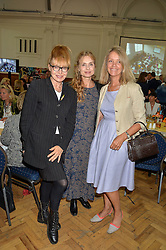 Left to right, LYNDALL HOBBS, MARYAM D'ABO and LADY STOPPARD at a lunch in aid of the charity African Solutions to African Problems (ASAP) held at the Royal Horticultural Hall, Vincent Square, London on 19th May 2016.