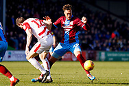 Scunthorpe United forward Kyle Wootton (29) in action  during the EFL Sky Bet League 1 match between Scunthorpe United and Doncaster Rovers at Glanford Park, Scunthorpe, England on 23 February 2019.