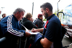 Bristol City head coach Lee Johnson arrives at the Hawthorns for the Sky Bet Championship fixture against West Bromwich Albion- Mandatory by-line: Robbie Stephenson/JMP - 18/09/2018 - FOOTBALL - The Hawthorns - West Bromwich, England - West Bromwich Albion v Bristol City - Sky Bet Championship