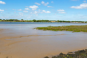 River Deben landscape from Stonner Point, Sutton across to Waldringfield, Suffolk, England, UK