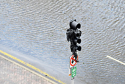 Flood water resides from parts of Jacksonville, FL after Hurricane Irma took an unexpected turn and caused massive power outages and coastal flooding around the state, on September 11, 2017.