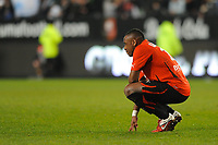 FOOTBALL - FRENCH CHAMPIONSHIP 2010/2011 - L1 - STADE RENNAIS v OLYMPIQUE MARSEILLE  - 11/03/2011 - PHOTO PASCAL ALLEE / DPPI - DESAPPOINTMENT JEAN ARMEL KANA BIYIK (REN) AT THE END OF MATCH
