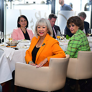 """The Designer - Pauline Wong """"Lifestyle With Friends Jewellery"""" her jewellery has show cases in London, Paris, US and Asia celebrities also had wear Pauline Wong Jewellery. Women in the livery lunch raising money for charity and the Lord Mayor charity at Bright Courtyard Club on 2nd August 2021, London, UK."""