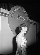 Housewife Of The Year Final.        (J91).1975..25.11.1975..11.25.1975..25th November 1975..The Housewife Of The Year Final took place today at Jury,s Hotel,Ballsbridge,Dublin. The event was sponsored by Mc Donnells, Calor/Kosangas and Woman's Way magazine. The show was compered by Mr Mike Murphy from RTE..The finalists were:.Mrs Geraldine Cronin,Nenagh,Co Tipperary..Mrs Deirdre Dolan,Passage West,Co Cork..Mrs Barbara Hartigan,Castleconnell,Co Limerick..Mrs Frances Twomey,Castlebar, Co Mayo..Mrs Susanne Browne,Lifford, Co Donegal..Mrs Lilian Murphy, Dunshaughlin,Co Meath..Mrs Eileen Jones,Donabate, Co Dublin..The sevenfinalists were selected from a group of eighty four entrants.The cookery section was judged by Paula Daly,McDonnell's Good Food Kitchen,Liz Boyhan,Calor Kosangas and Honor Moore, Woman's Way..Picture of Mrs Barbara Hartigan this years winner of The Housewife Of The Year competition.