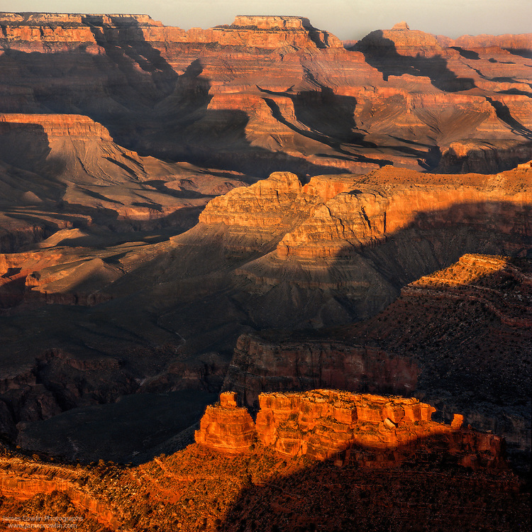 Sunset from Hopi Point on the South Rim of the Grand Canyon in Arizona