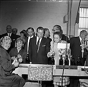 26/09/1962<br /> 09/26/1962<br /> 26 September 1962<br /> Opening of Earl Bottlers Ltd. at South Earl Street, Dublin. Minister for Justice Charles Haughey opened the new premises that produced Sandyman port. Mr Haughey (centre), takes a tour of the factory.