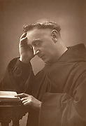 'Joseph Leycester Lyne (1837-1908) known as Father Ignatious, Anglican Benedictine preacher pictured c1890. Built Llanthony Abbey, South Wales, and founded the revived Order of Anglican Benedictine Monks.'