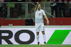 October 8, 2017 - Warsaw, Poland - Kamil Grosicki of Poland celebrates after his scoring during the FIFA World Cup 2018 Qualifying Round Group E match between Poland and Montenegro at National Stadium in Warsaw, Poland on October 8, 2017  (Credit Image: © Andrew Surma/NurPhoto via ZUMA Press)