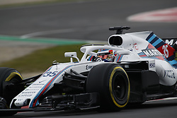 February 26, 2018 - Barcelona, Catalonia, Spain - February 26, 2018 - Circuit de Barcelona-Catalunya, Montmelo, Spain - Formula One preseason 2018; Sergey SIROTKIN of Team Williams Martini Racing, Williams FW41 during the afternoon session. (Credit Image: © Eric Alonso via ZUMA Wire)