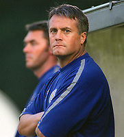 Micky Adams (Leicester Manager) Brighton & Hove Albion v Leicester City. 4/8/2003. Pre Season friendly match. Credit : Colorsport/Andrew Cowie.