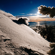 Teton Brown finds powder in the Teton backcountry.