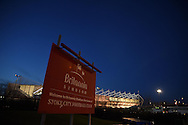 a general view outside the Britannia stadium ahead of the Barclays Premier League match, Stoke city v Everton at the Britannia Stadium in Stoke on Trent , Staffs on Wed 4th March 2015.<br /> pic by Andrew Orchard, Andrew Orchard sports photography.