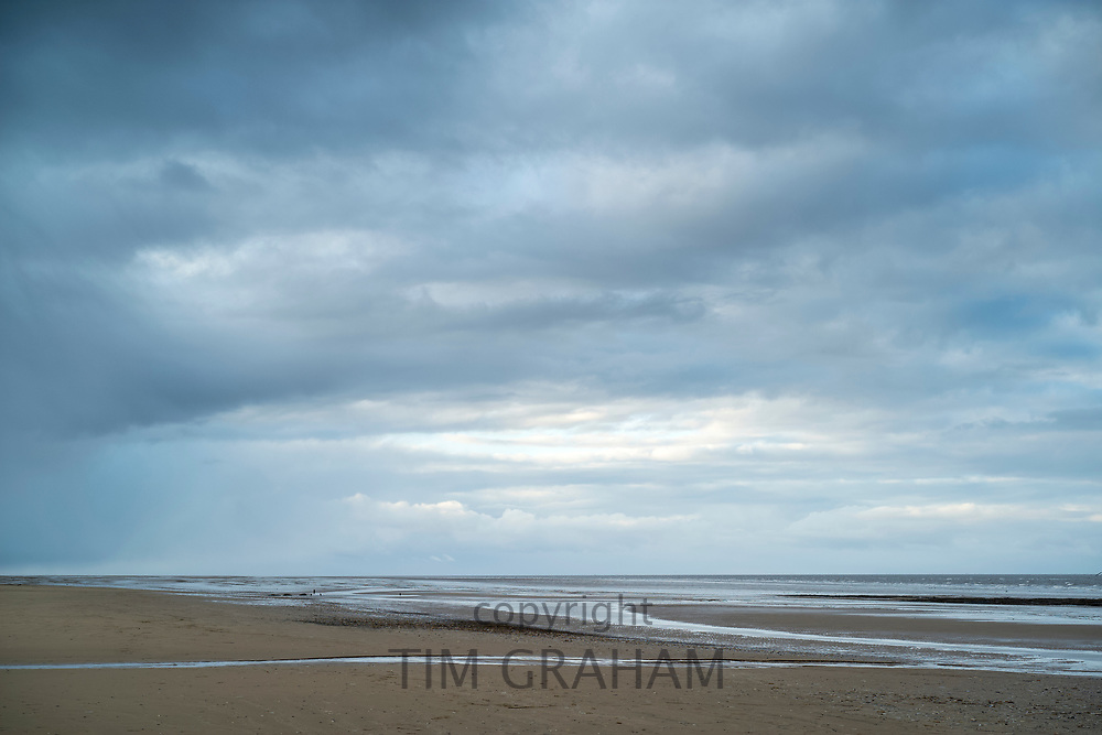 Norfolk coastal scene at Titchwell, North Norfolk, England, UK