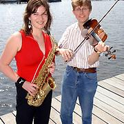 NLD/Huizen/20050609 - Persconferentie South Sea Jazz 2005, vlnr, NLD/Huizen/20050609 - Susanne Alt, Tim Kliphuis