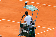 Main referee on Chatrier court during the Roland Garros French Tennis Open 2018, day 8, on June 3, 2018, at the Roland Garros Stadium in Paris, France - Photo Pierre Charlier / ProSportsImages / DPPI