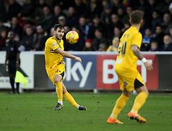 Jake Gosling of Bristol Rovers sprays a pass wide - Mandatory byline: Robbie Stephenson/JMP - 07966 386802 - 26/12/2015 - FOOTBALL - Kingsmeadow Stadium - Wimbledon, England - AFC Wimbledon v Bristol Rovers - Sky Bet League Two
