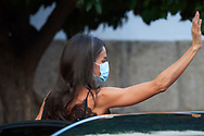 Queen Letizia of Spain arrive to National Inn on July 22, 2020 in Merida, Spain