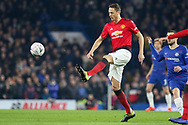 Manchester United Midfielder Nemanja Matic during the The FA Cup 5th round match between Chelsea and Manchester United at Stamford Bridge, London, England on 18 February 2019.