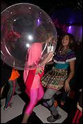 SERAPHINA VOLPI-KYPROS; AYESHA TAN-JONES, Andrew Logan's Alternative Miss World 2014. Shakespeare's Globe, London. 18 October 2014.