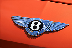 """File photo dated 26/6/2016 of a badge on the bonnet of a Bentley as workers at the luxury carmaker are to receive a 6.5\% pay rise over three years and have their basic hours cut to 35 under a """"groundbreaking"""" deal, said Unite."""