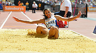 GBR long jumper Morgan Lake during the Sainsbury's Anniversary Games at the Queen Elizabeth II Olympic Park, London, United Kingdom on 25 July 2015. Photo by Mark Davies.