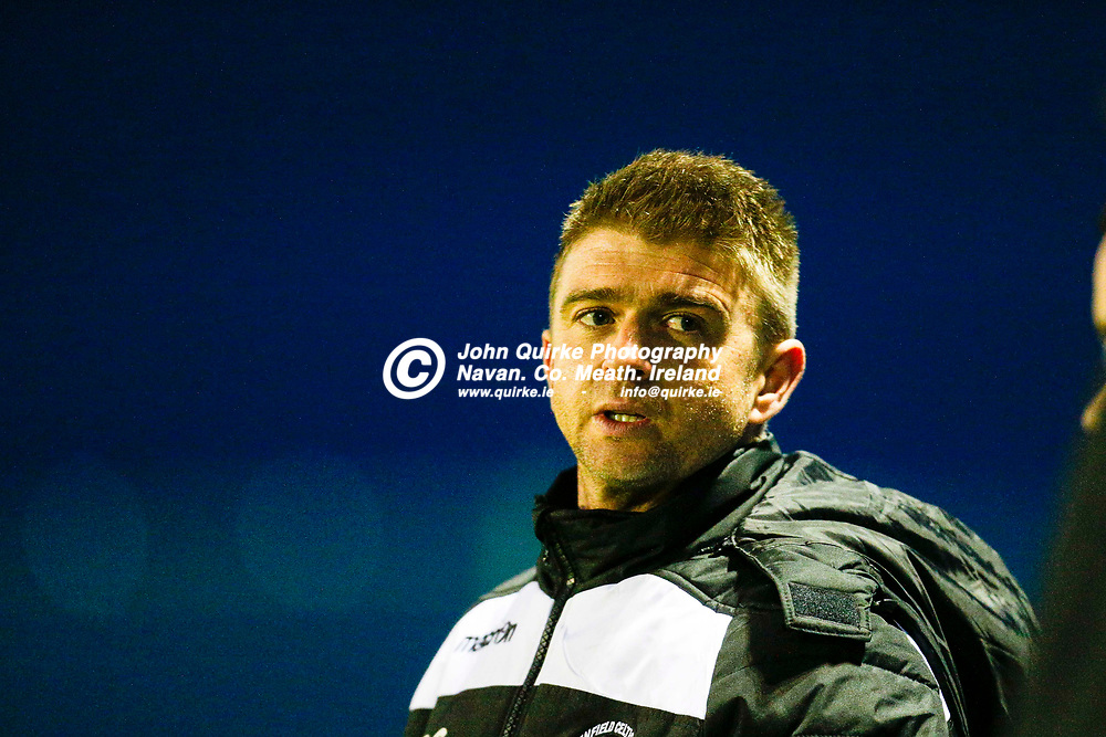 14/04/2017, Division 1 Soccer at MDL, Navan<br /> OMP United vs Enfield Celtic<br /> Enfield Celtic Manager - Brendan Curley<br /> Photo: David Mullen / www.quirke.ie ©John Quirke Photography, Unit 17, Blackcastle Shopping Cte. Navan. Co. Meath. 046-9079044 / 087-2579454.<br /> ISO: 6400; Shutter: 1/500; Aperture: 2.8<br /> File Size: 9.1MB<br /> Print Size: 72.0 x 48.0 inches
