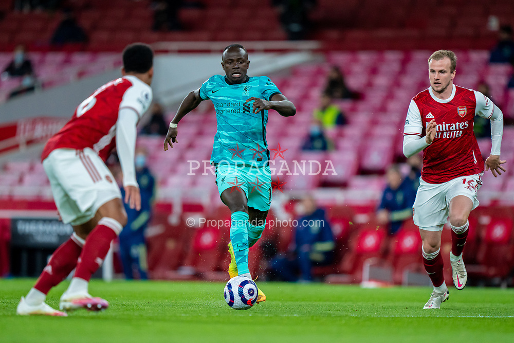 LONDON, ENGLAND - Saturday, April 3, 2021: Liverpool's Sadio Mané during the FA Premier League match between Arsenal FC and Liverpool FC at the Emirates Stadium. Liverpool won 3-0. (Pic by David Rawcliffe/Propaganda)