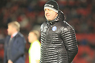 A disgruntled Keith Hill during the EFL Sky Bet League 1 match between Doncaster Rovers and Rochdale at the Keepmoat Stadium, Doncaster, England on 1 January 2019.