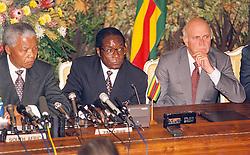 Nelson Mandela, Robert Mugabe & FW De Klerk
