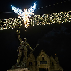 © Licensed to London News Pictures. 21/11/2018. Truro, UK.  Truro City of Lights that celebrates the 100th anniversary of the WW1 Armistice.  Photo credit: MARK HEMSWORTH/LNP