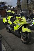 National Health Service motorbike, London, England