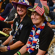 Delegates express themselves on the floor of the 2012 Democratic National Convention