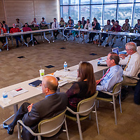 090613       Cable Hoover<br /> <br /> Educators and community health representatives gather for a healthcare workforce forum at UNM-Gallup Friday.