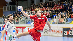 06.01.2017, BSFZ Suedstadt, Maria Enzersdorf, AUT, IHF Junior WM 2017 Qualifikation, Ungarn vs Österreich, im Bild Philipp Rabenseifer (AUT) // during the IHF Men's Junior World Championships qualifying match between Hungary and Austria at the BSFZ Suedstadt, Maria Enzersdorf, Austria on 2017/01/06, EXPA Pictures © 2017, PhotoCredit: EXPA/ Sebastian Pucher