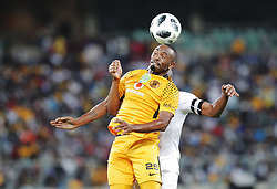 21042018 (Durban) Chiefs player Bernard Parker tackle with Stars Player Nyiko Mobbie when Kaizer Chiefs takes on Free State Stars in the first Semi-Final at the Moses Mabhida Stadium On Saturday evening. FreeState let the way with a lead of 2-0 before halftime<br /> Picture: Motshwari Mofokeng/ANA