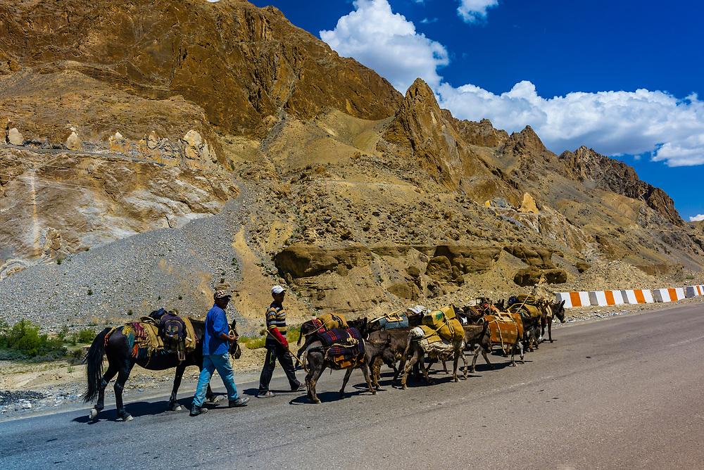 National Highway 1 (Srinagar Leh Highway), Ladakh, Jammu and Kashmir State, India.