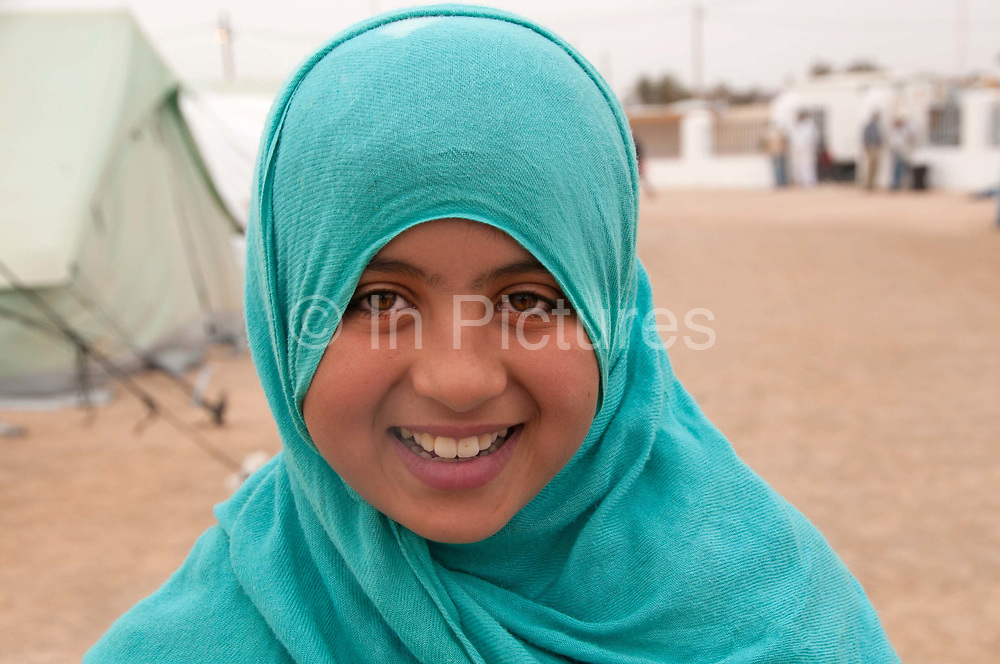 Tunisia 2011. Remada camp for refugees from Libya. Wissal, aged 11.