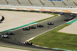 October 17, 2018 - Valencia, Spain - Race simulation during the Formula E official pre-season test at Circuit Ricardo Tormo in Valencia on October 16, 17, 18 and 19, 2018. (Credit Image: © Xavier Bonilla/NurPhoto via ZUMA Press)