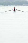 Hazewinkel. BELGUIM  GBR LM1X, Paul MATTICK. 2004 GBR Rowing Trials - Rowing Course, Bloso, Hazewinkel. BELGUIM. [Mandatory Credit Peter Spurrier/ Intersport Images]